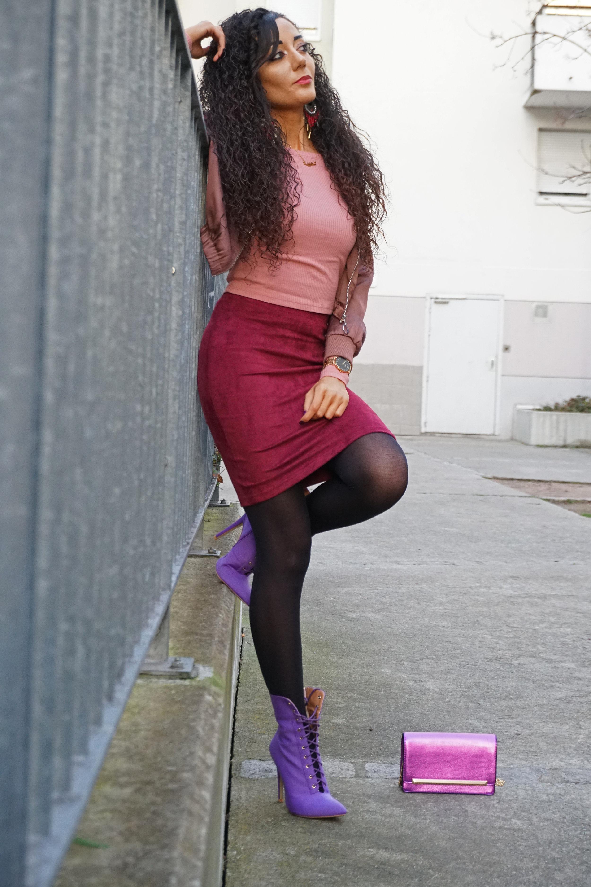 egoofficial boots purple - burgundy lookbook