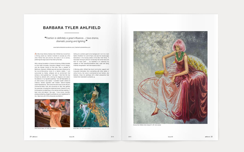 artblend magazine Barbara Tyler Ahlfield