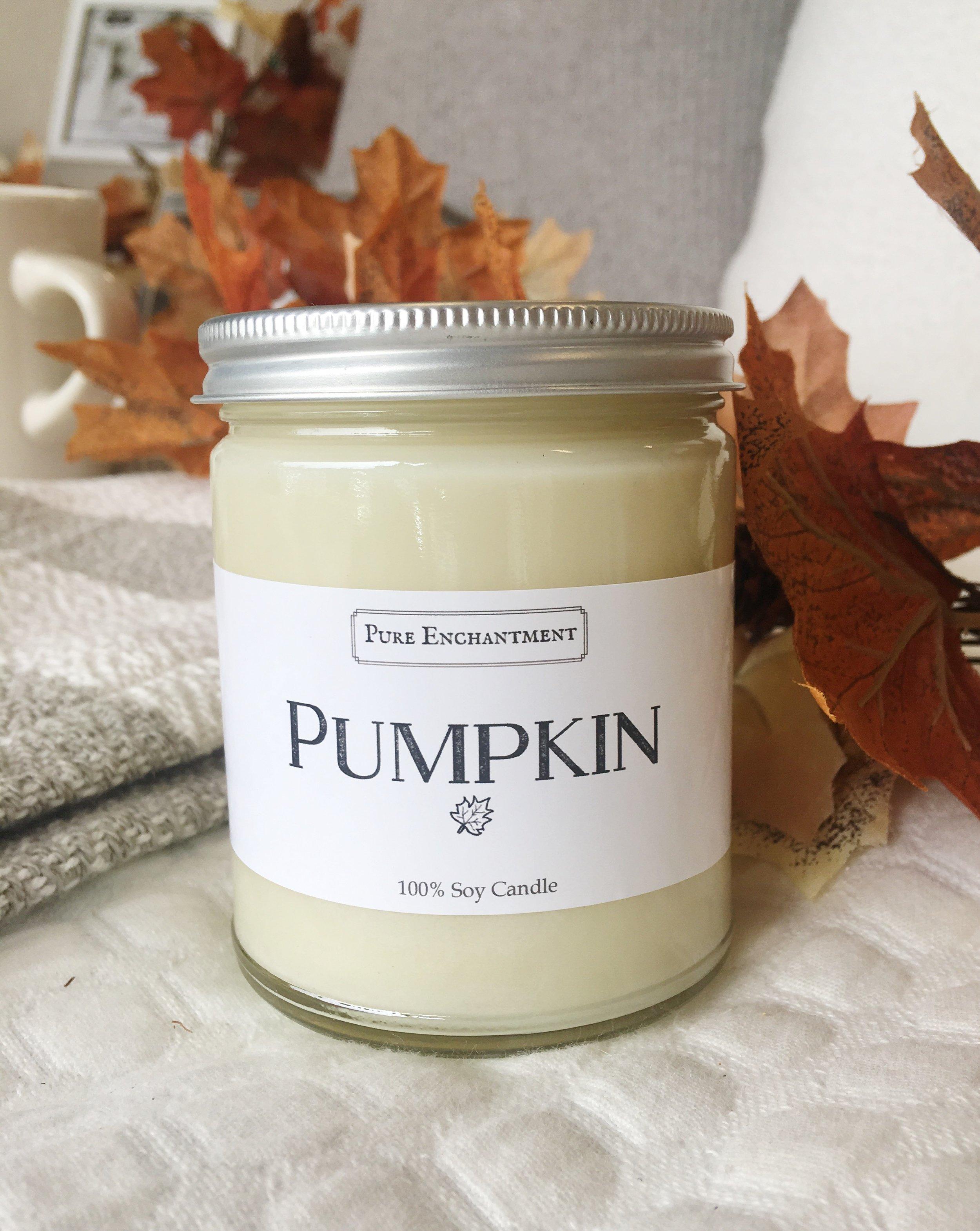 all natural pumpkin candle