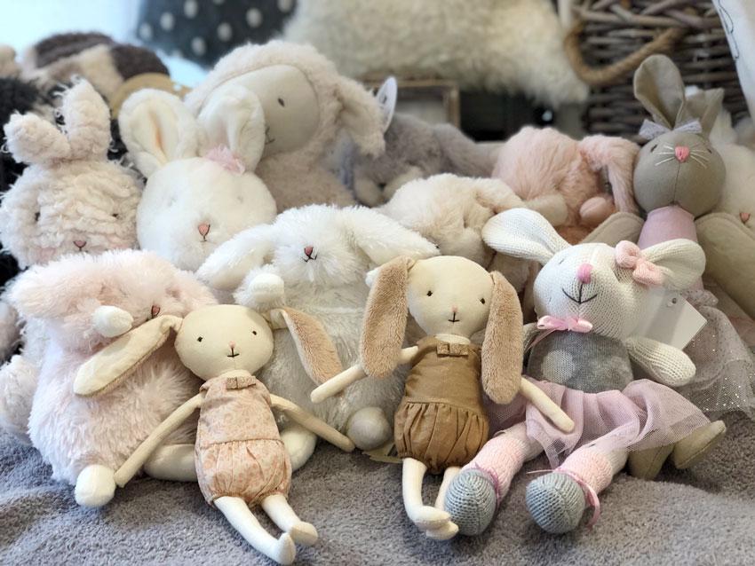 stuffed bunnies soft easter basket