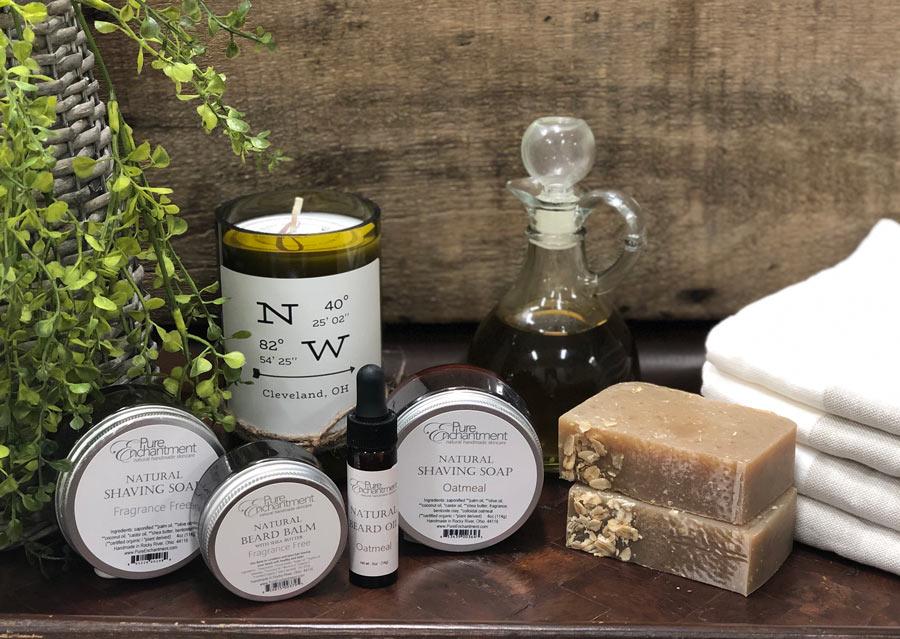all natural beard oil, balm shaving soap
