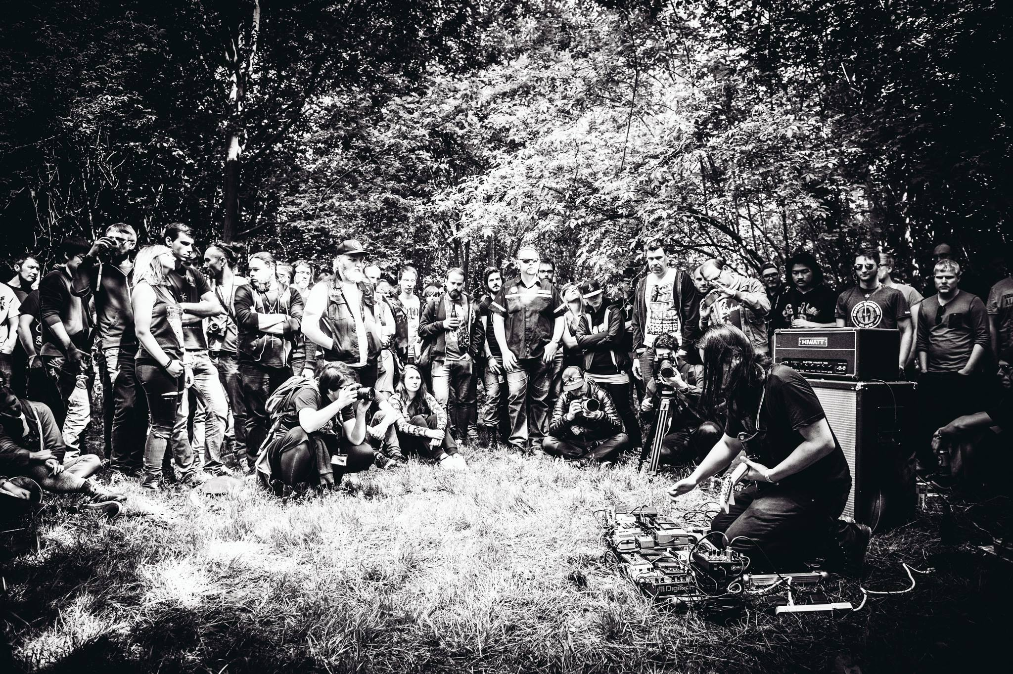 Thisquietarmy performing in the forest at #dnk15, picture by Davy De Pauw