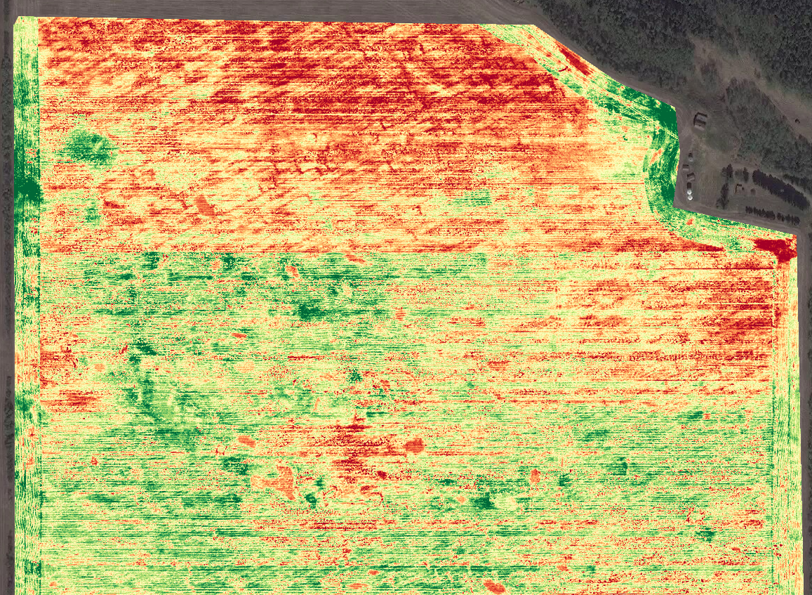 NDVI Drone Crop Imagery