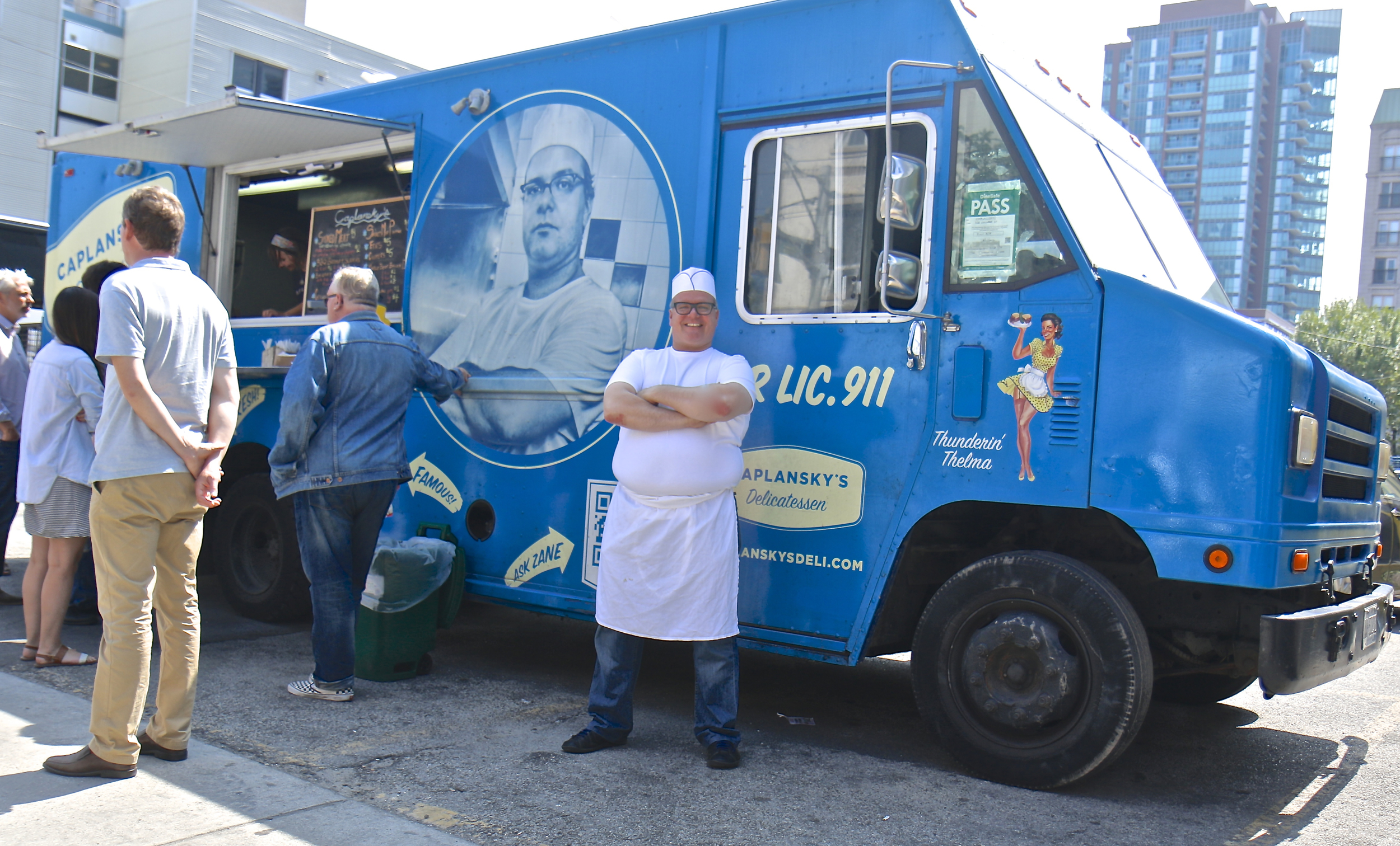 "Zane Caplansky and his truck ""Thelma"""