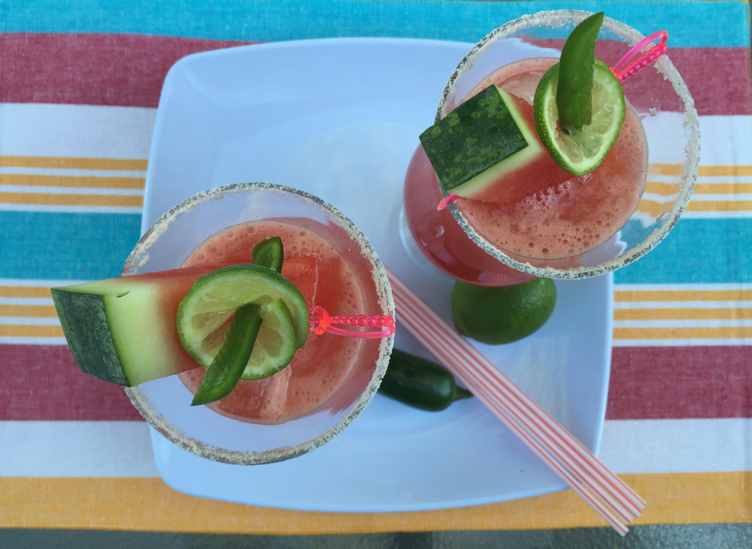 Jalapeno-infused tequila provides heat to sweet watermelon blend for a refreshing summer bevvy