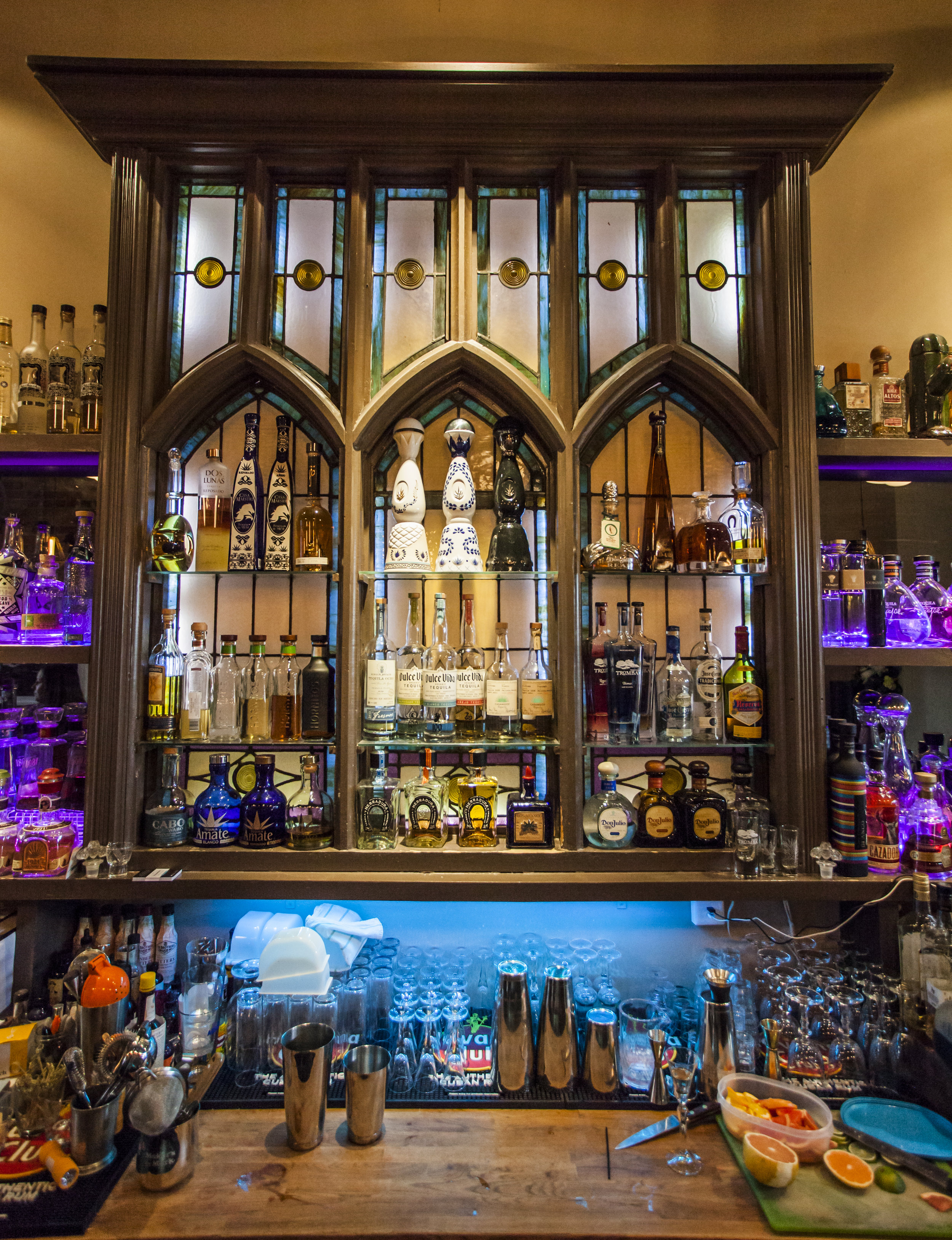 The bar at Reposado on Toronto's trendy Ossington Street offers patrons plenty of tequila options. Photo courtesy of Joe Fuda.
