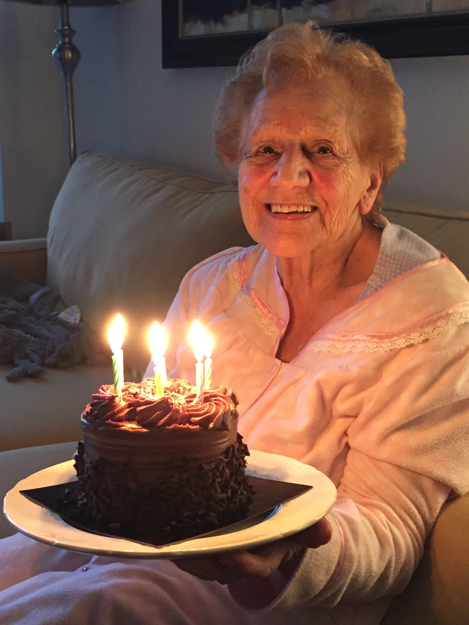 The author's mother celebrating 85 years. Photo by Samantha Gary