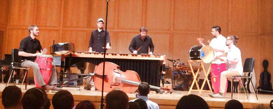 Perez performs with his students at Silkroad's Global Musician Workshop