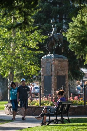 Jackson Hole Town Square. Photo: T. Hamish Tear
