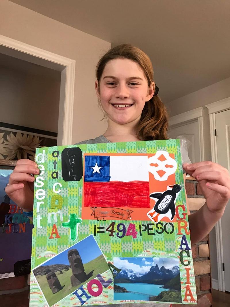 Aurélie qui désire célébrer son anniversaire dans les glaciers du parc Torres del paine
