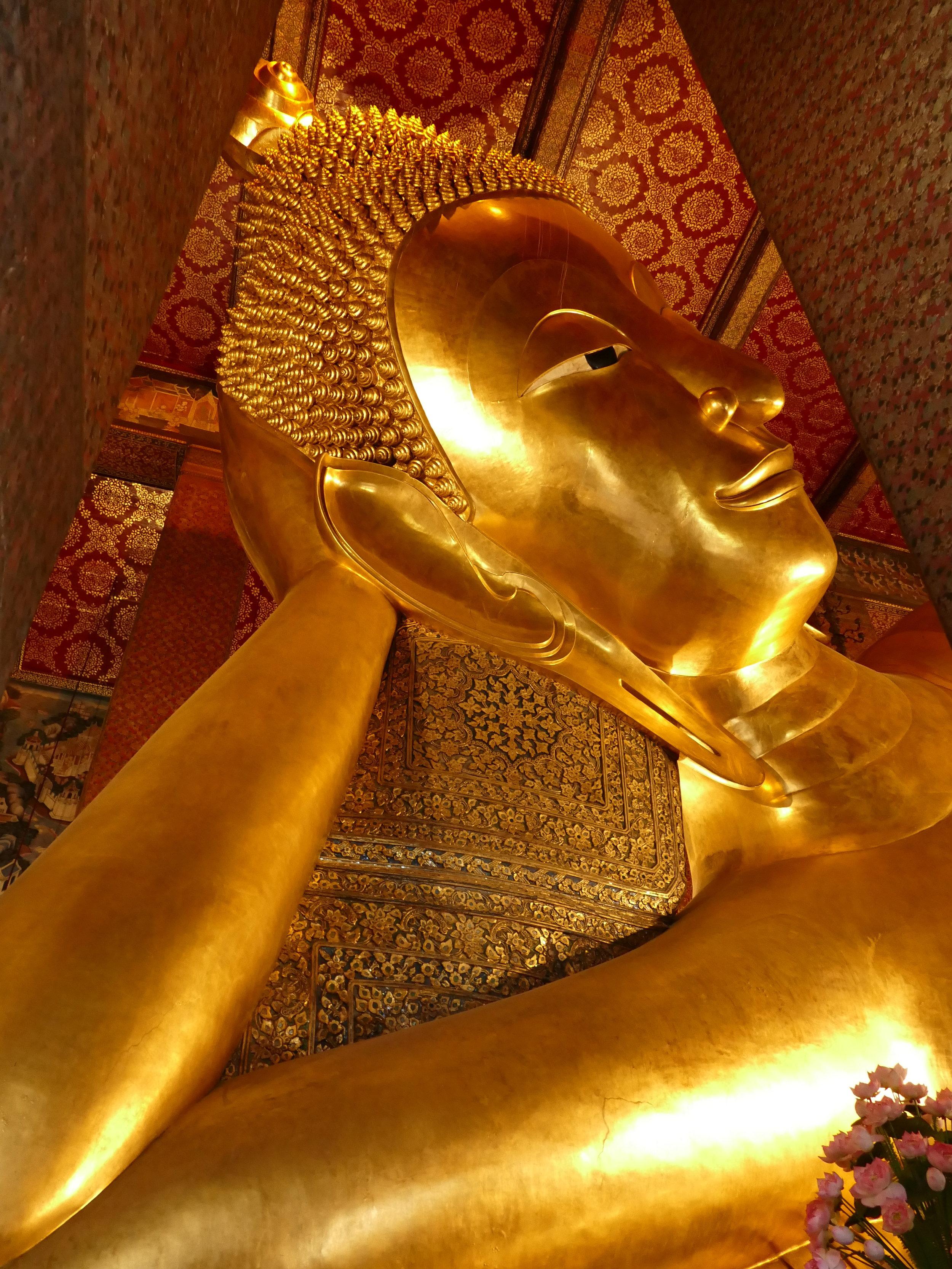 Le célèbre Bouddha couché, notre préféré!!