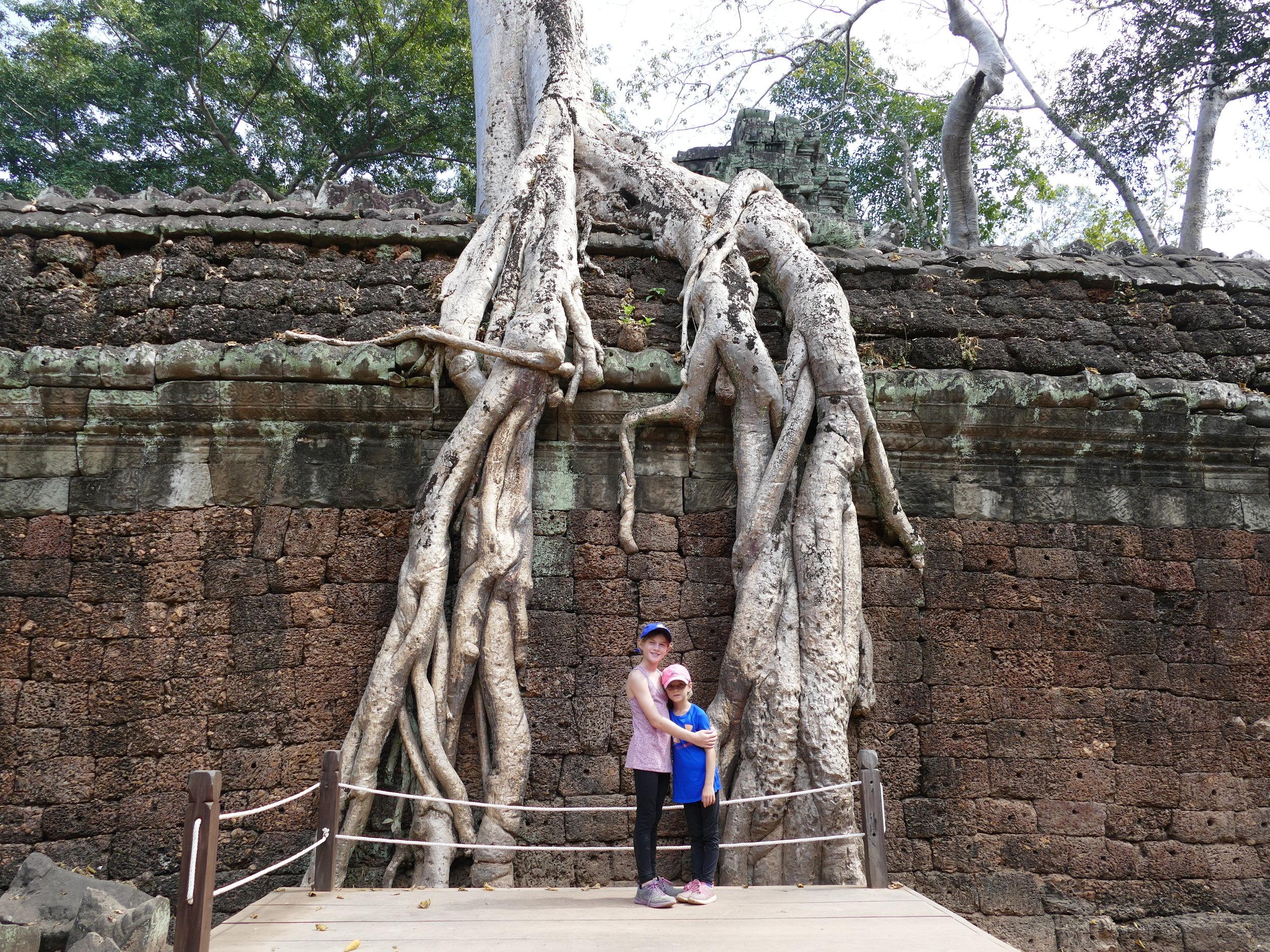 Les temples d'Angkor.. majestueux.
