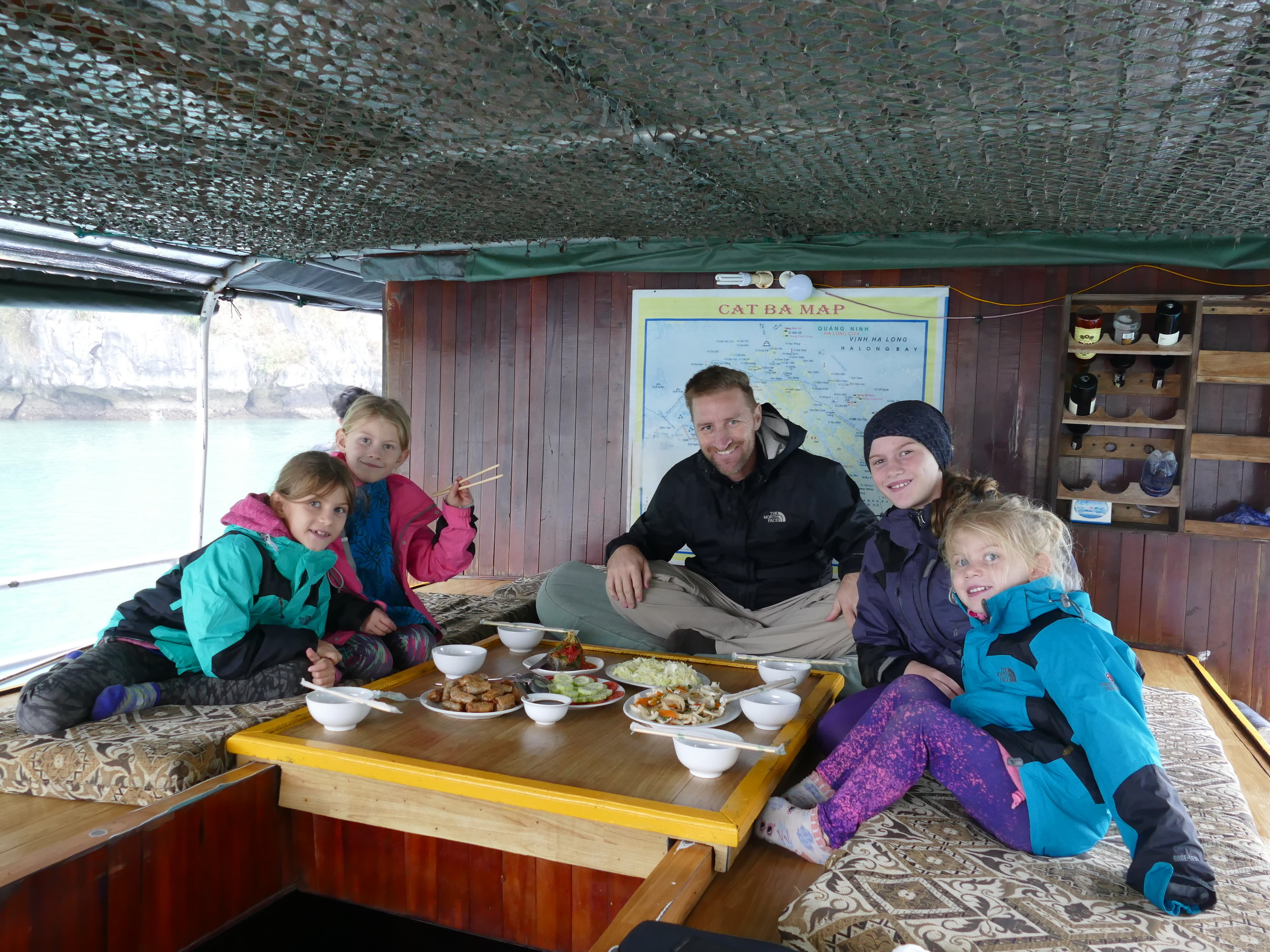 On avait notre cuisinier à bord!!