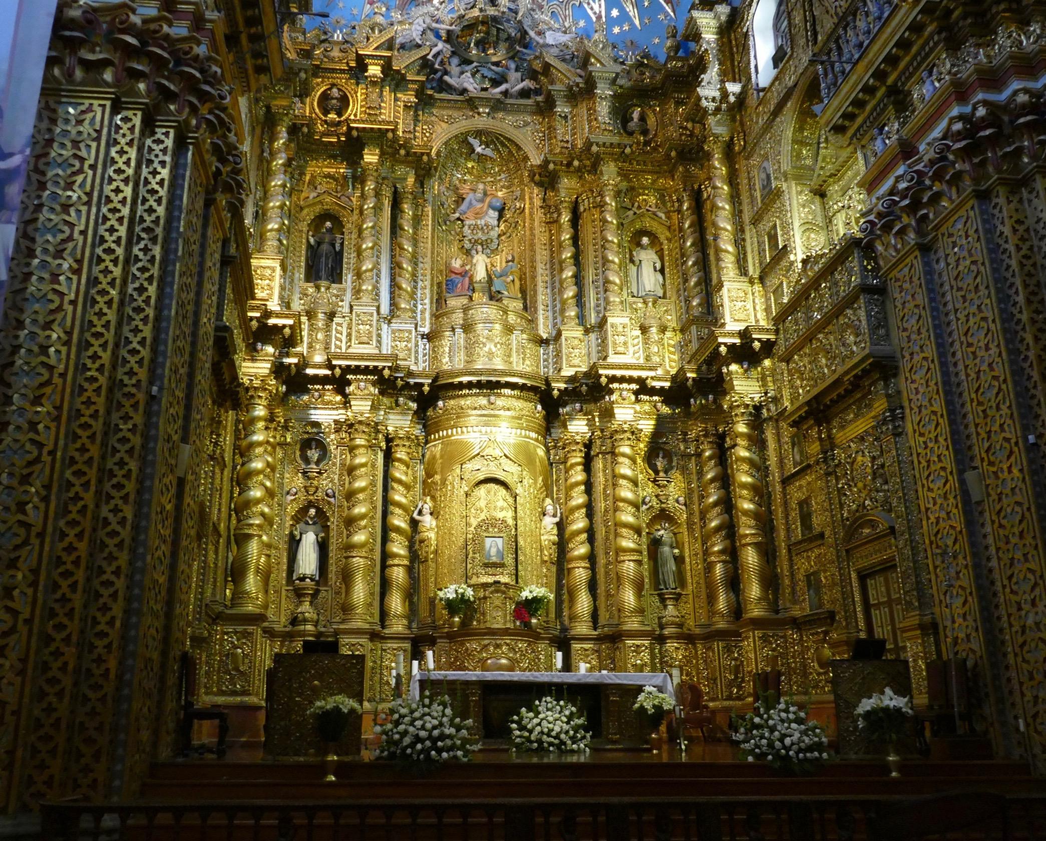 La compania, l'église la plus dorée du pays! Une visite à ne pas manquer.