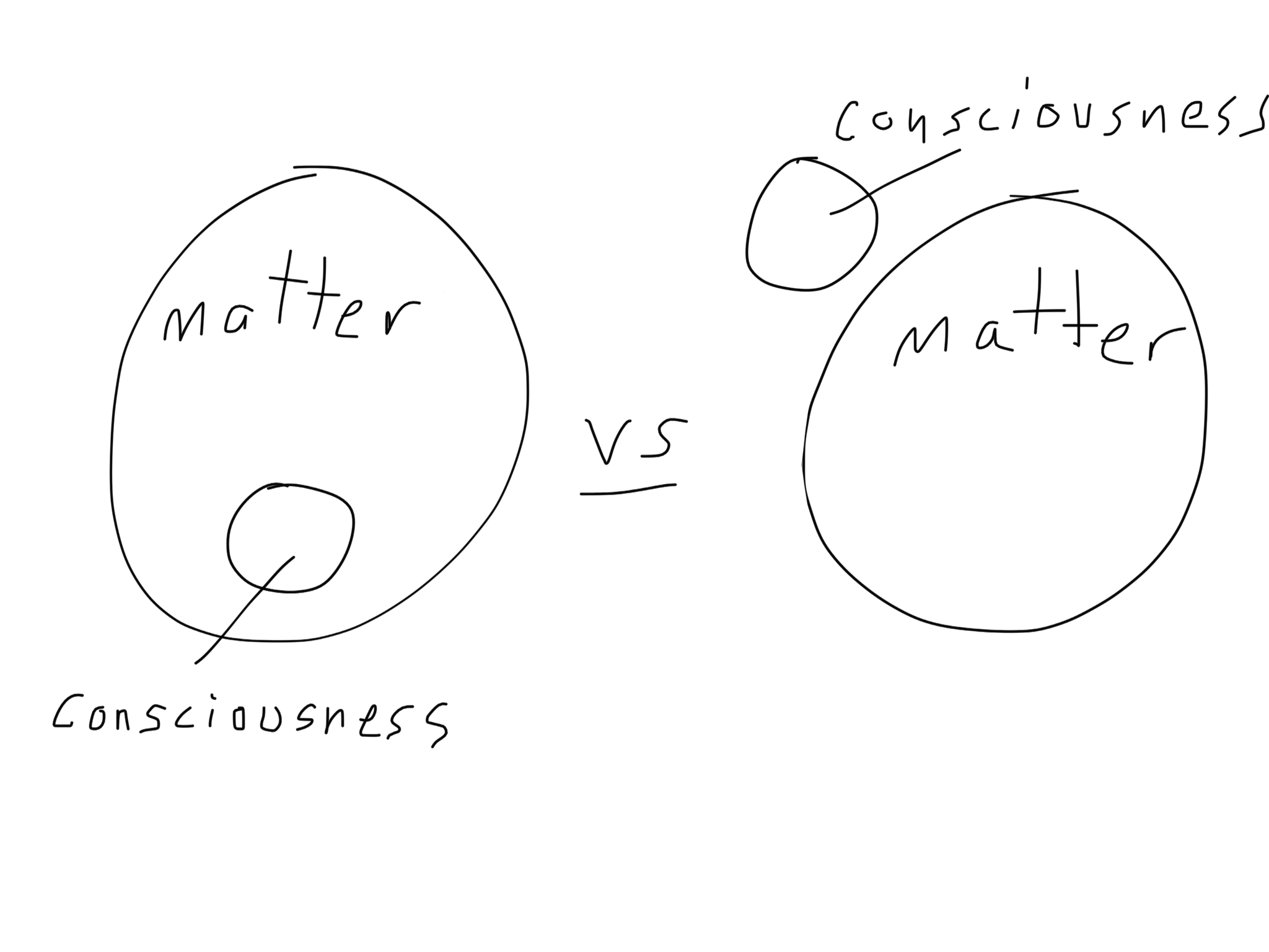 Is consciousness matter? How the f*ck can that even be? How could it NOT be?!