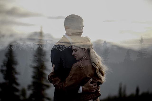 Just look at this double exposure of Sarah & Cole. LOOK AT IT 😍