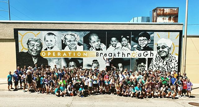 An amazing day at @operationbreakthrough! We have ten teams serving in various capacities - including an extreme makeover of a lot that will be come an outdoor classroom/garden.  What an amazing organization.