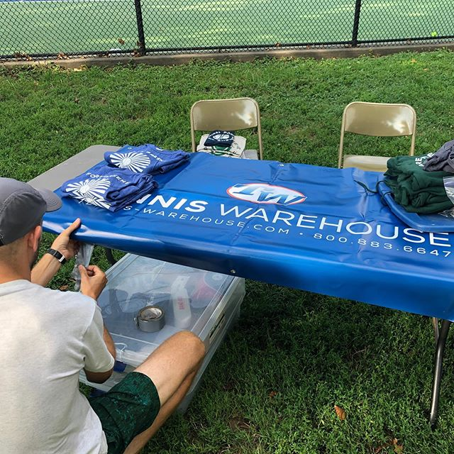 Come out to see some awesome tennis this morning! Thanks to @tenniswarehouse and our other generous sponsors for everything! #fortgreenepark #fortgreenetennis