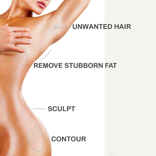 Your Ideal Body - From Fat Reduction to Unwanted Hair Removal, Choose Customized body treatments that treat and restore.IDEAL BODY SCULPTING WITH TICKLE LIPOREMOVE UNWANTED HAIRSLIM & TIGHTEN CHIN & NECKELIMINATE UNWANTED BODY FATDIMINISH SPOTS & REPAIR DAMAGECORRECT STRETCHMARKSHAND REJUVENATIONBOTOX FOR SWEATINGHAIR REJUVENATION WITH PRP