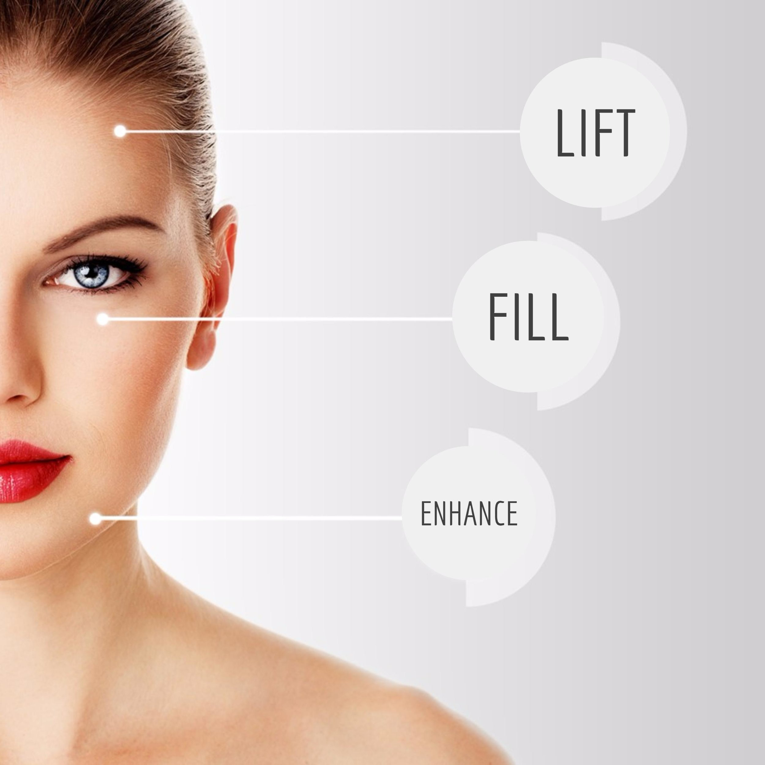 Dermal Fillers - are injectable treatments that can restore youthful volume and fullness to the face, plump deeper facial lines and folds and provide contour and definition to the face. Over time, the effects of aging can take a toll on our appearance. Skin becomes thinner, loses its elasticity and is more prone to fine lines, wrinkles, creases and folds. Fortunately, with the use of dermal fillers, which are injected beneath the skin's surface to fill depressed areas, a smoother more youthful appearance can be achieved.*All Ideal Skin MedSpa filler treatments are performed by a highly trained and certified medical provider.