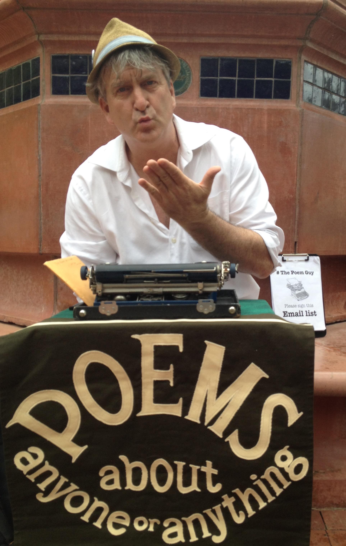 Bill Keys, The Poem Guy, returns to his old hometown, Boulder, Colorado