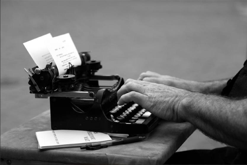 Mighty Little: my 1917 Corona typewriter.                                We've poemed near 5,000 poems.