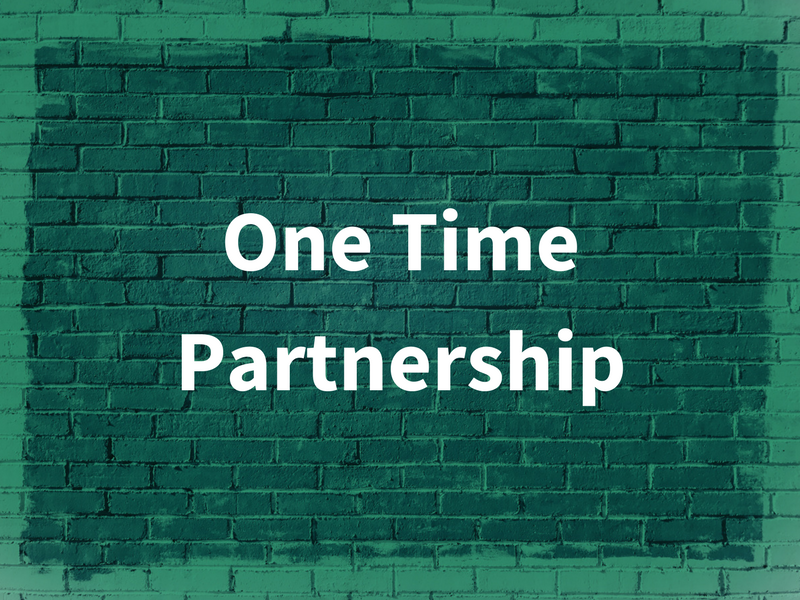 One Time Partnership graphic