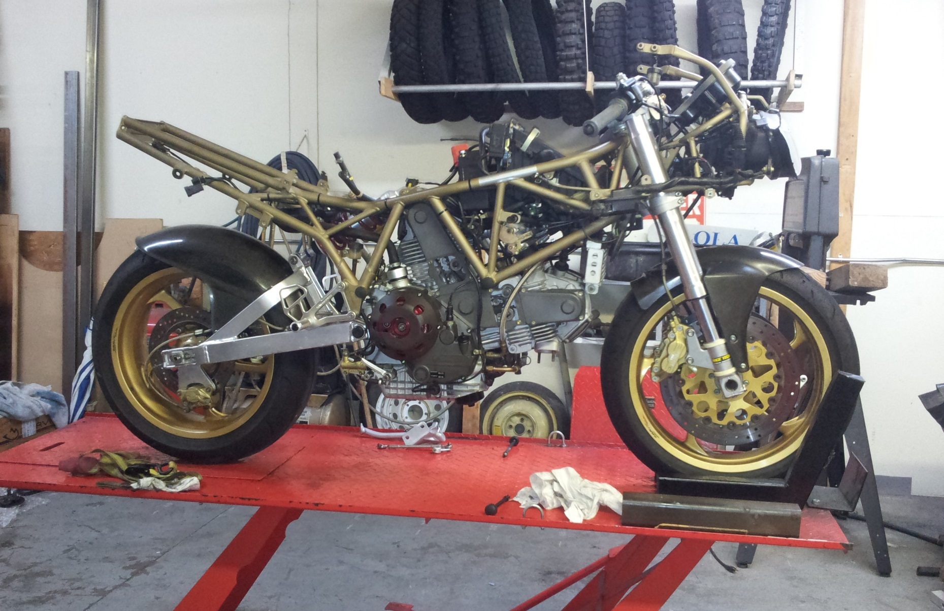 Ducati 900SS Before Fairings Are Installed