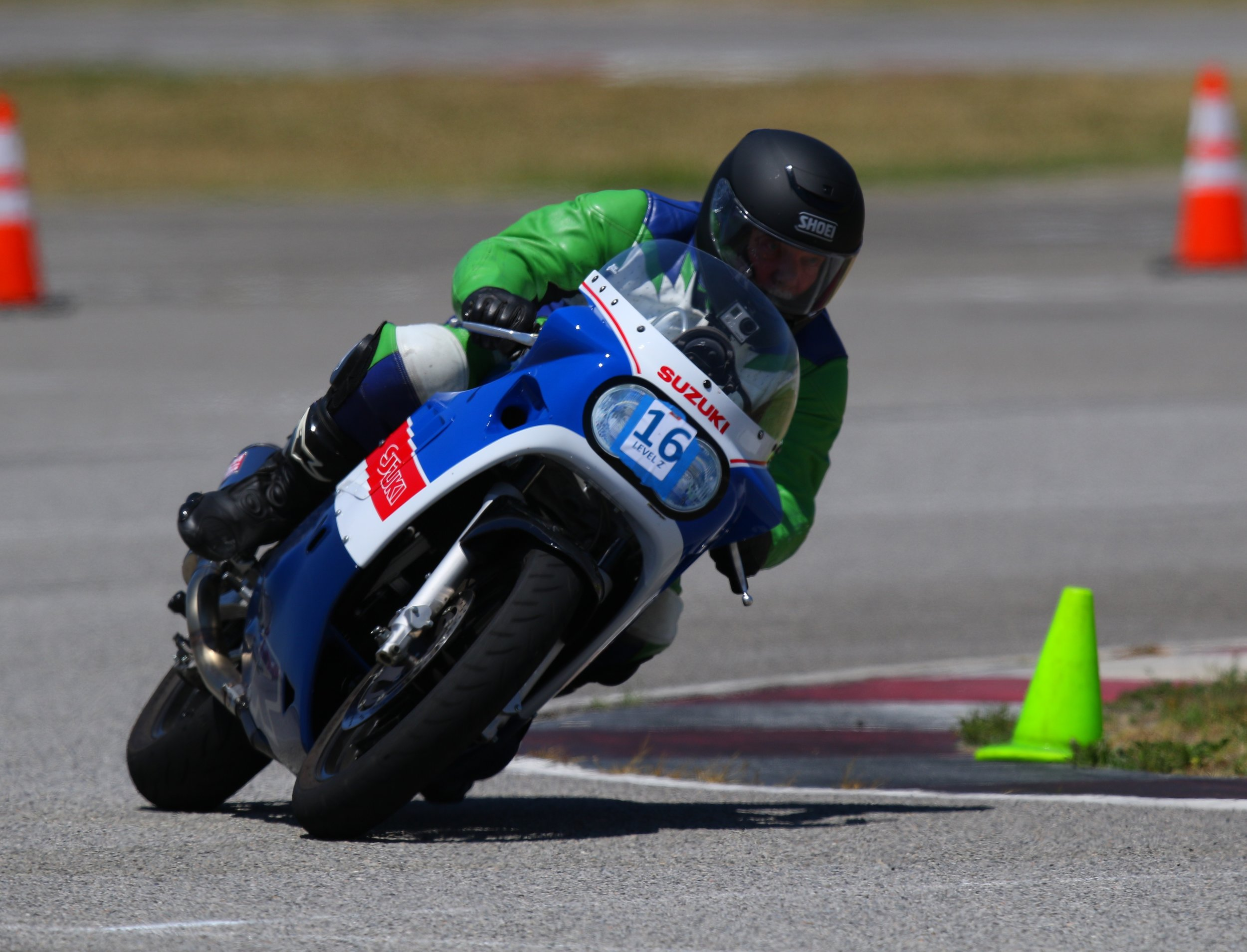 Tate Casey on the Suzuki GSX-R750 at Auto Club Speedway in CA
