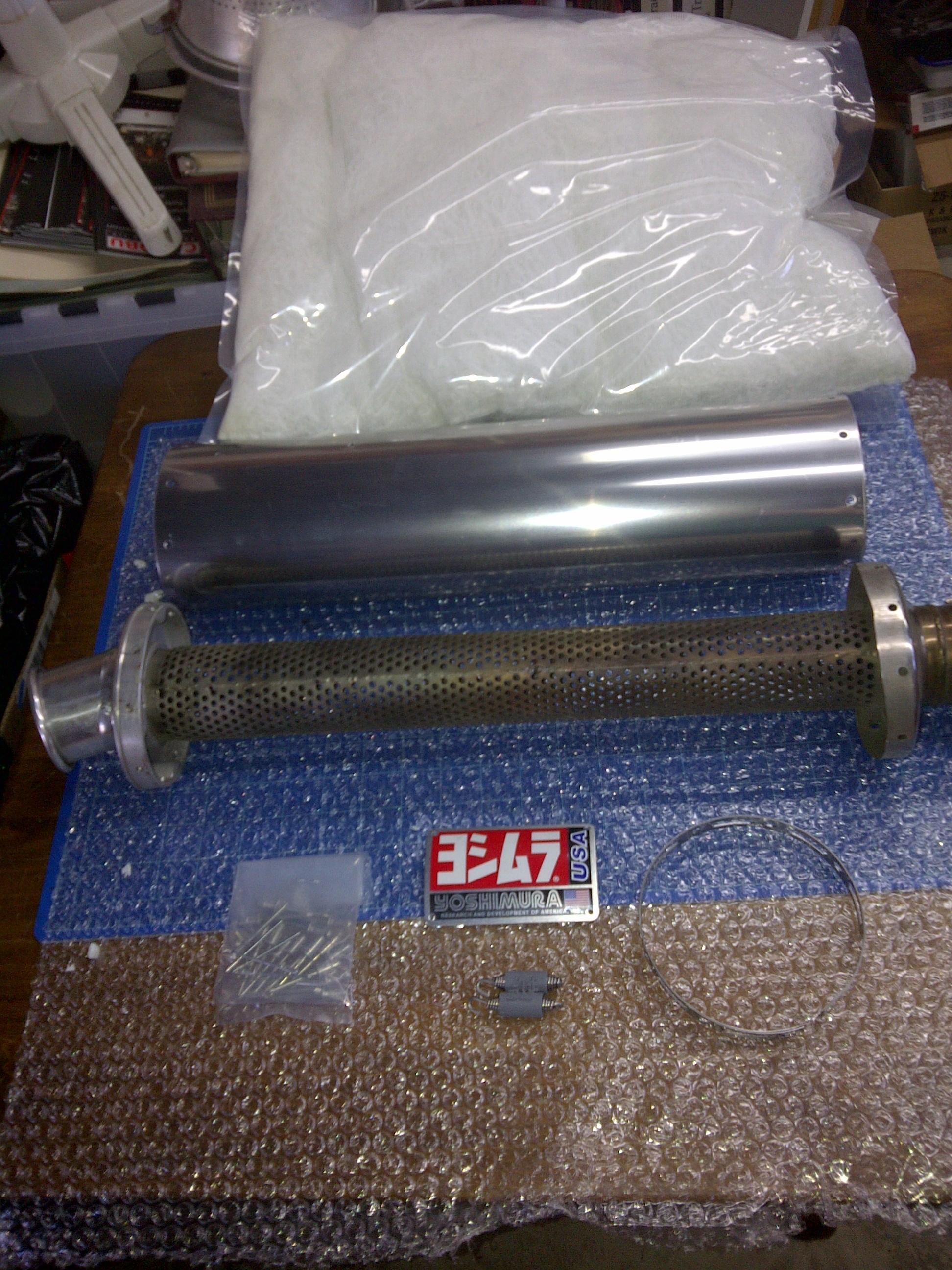 Yoshimura Muffler Rebuild Parts