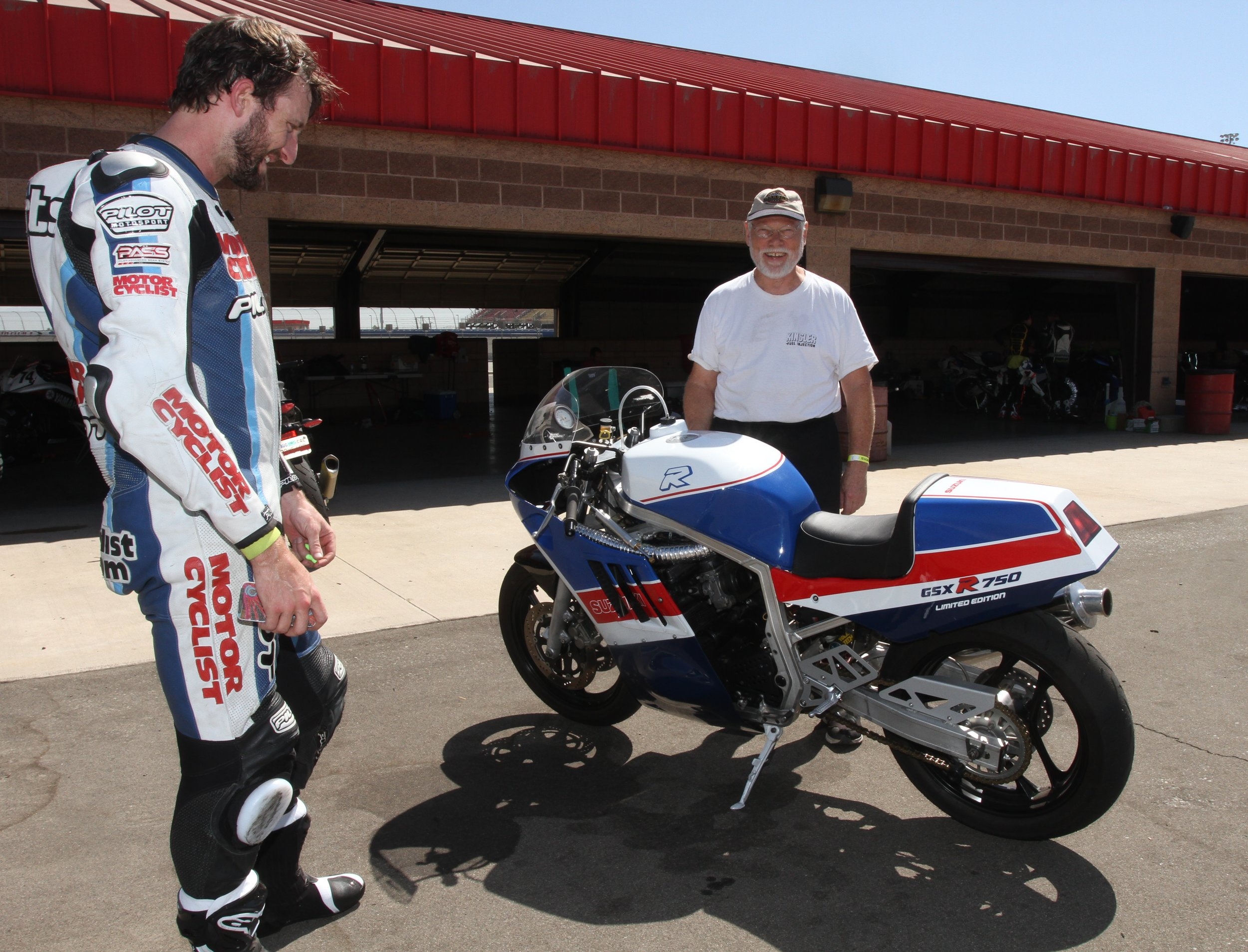 Suzuki GSX-R750 at Auto Club Speedway with Zack and Tate