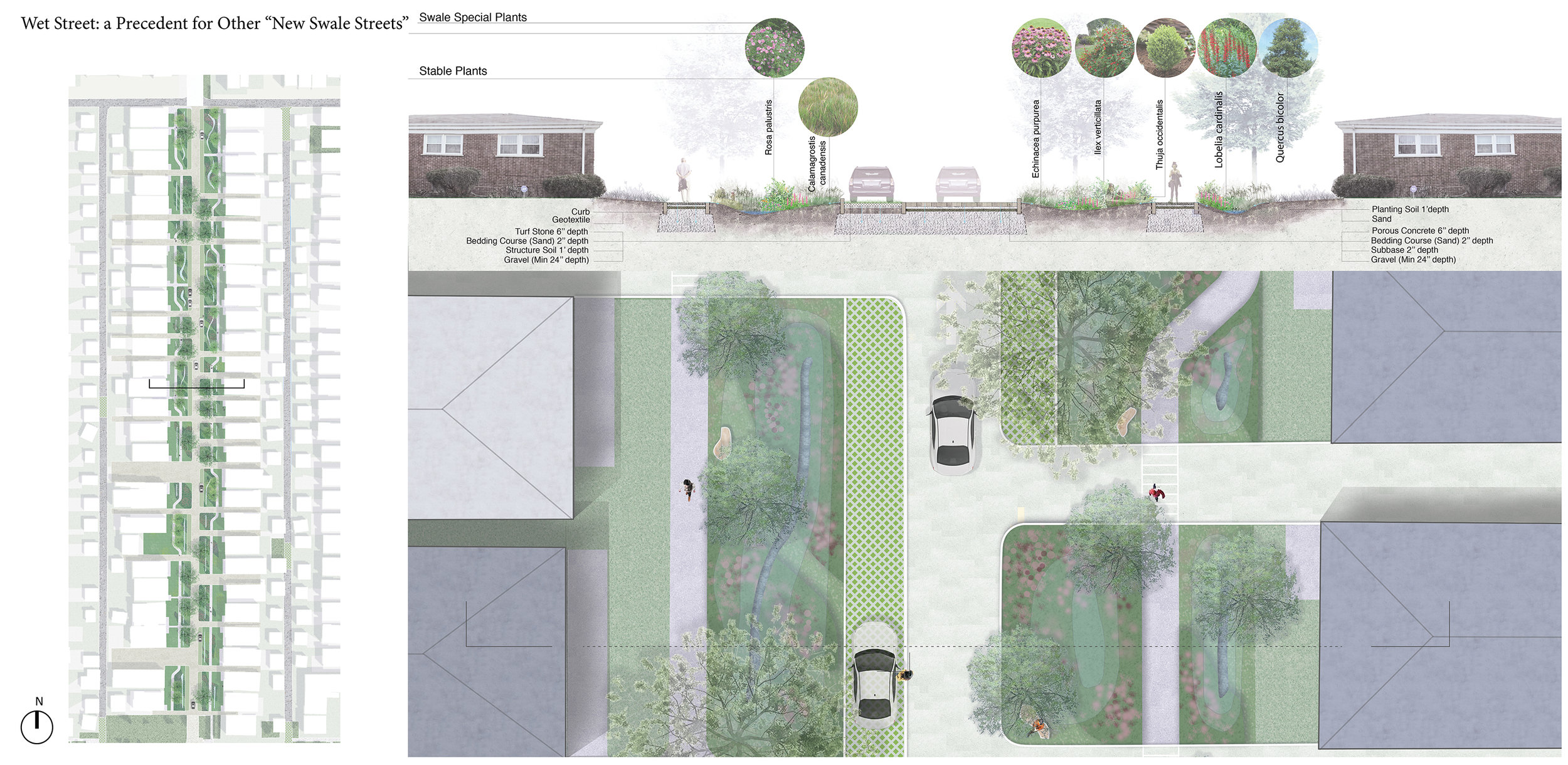 """Wet Street: a precedent for other """"new swale streets"""""""