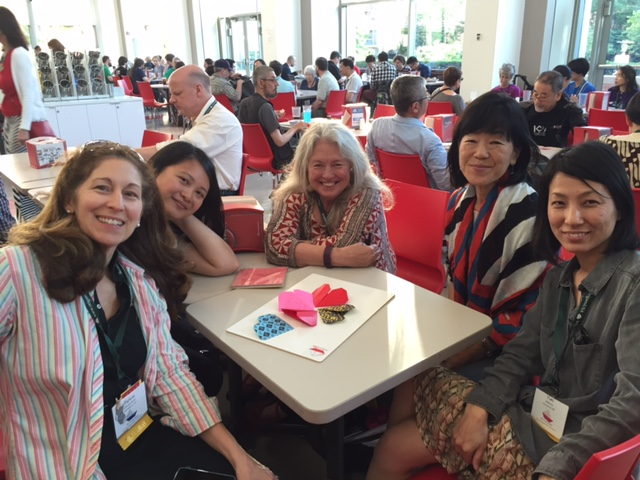 Dr Cerel-Suhl learns from and shares with with leading origami teachers and artists from 3 continents at Origami USA, June 2016.