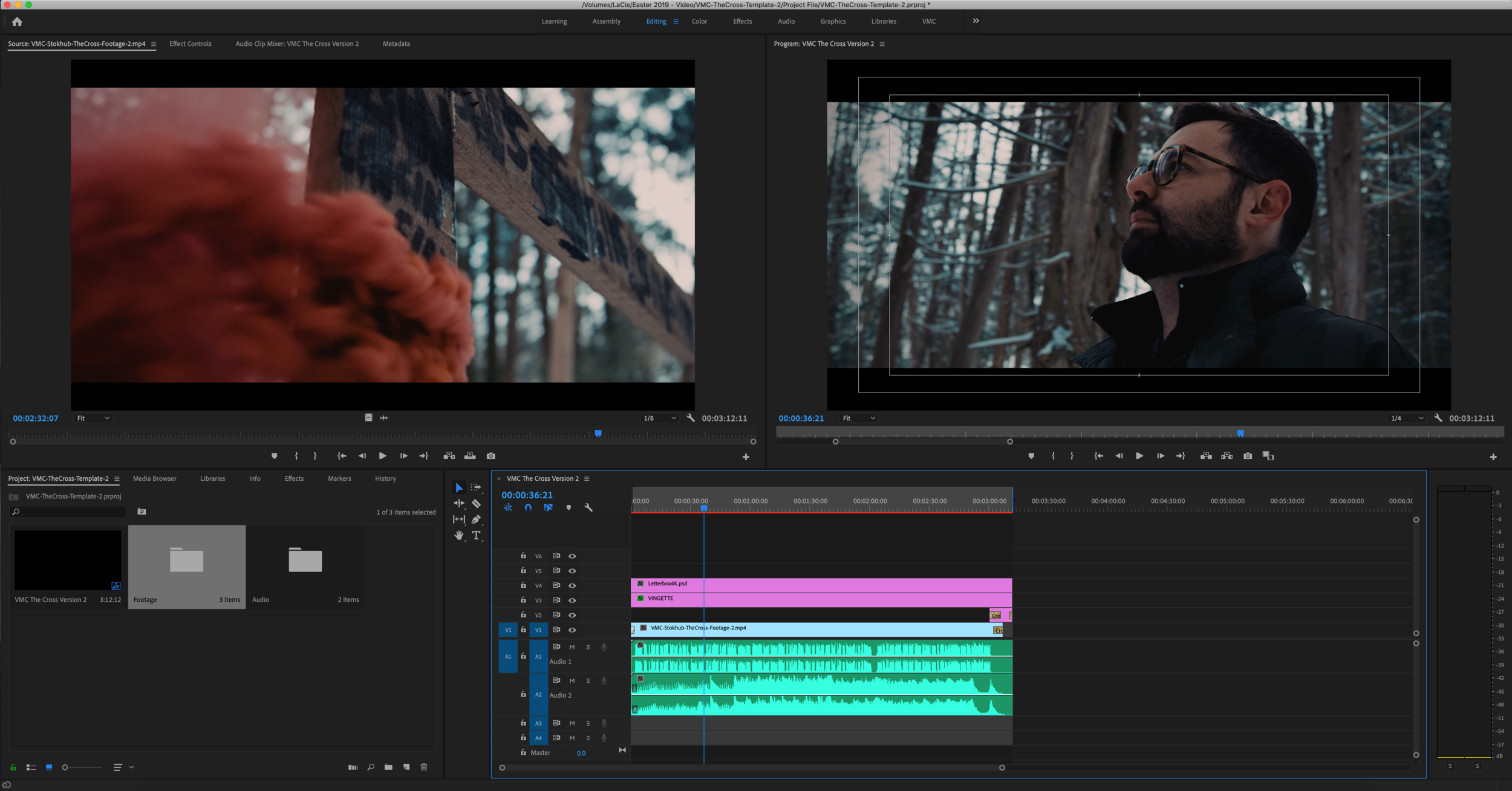 Take Control - Ability to edit all the shots, music, 'the cross' title, and audio