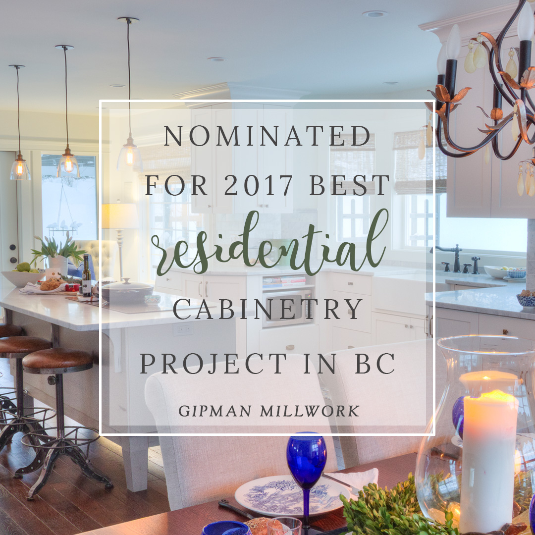 Nominated for 2017 Best Residential Cabinetry Project in BC