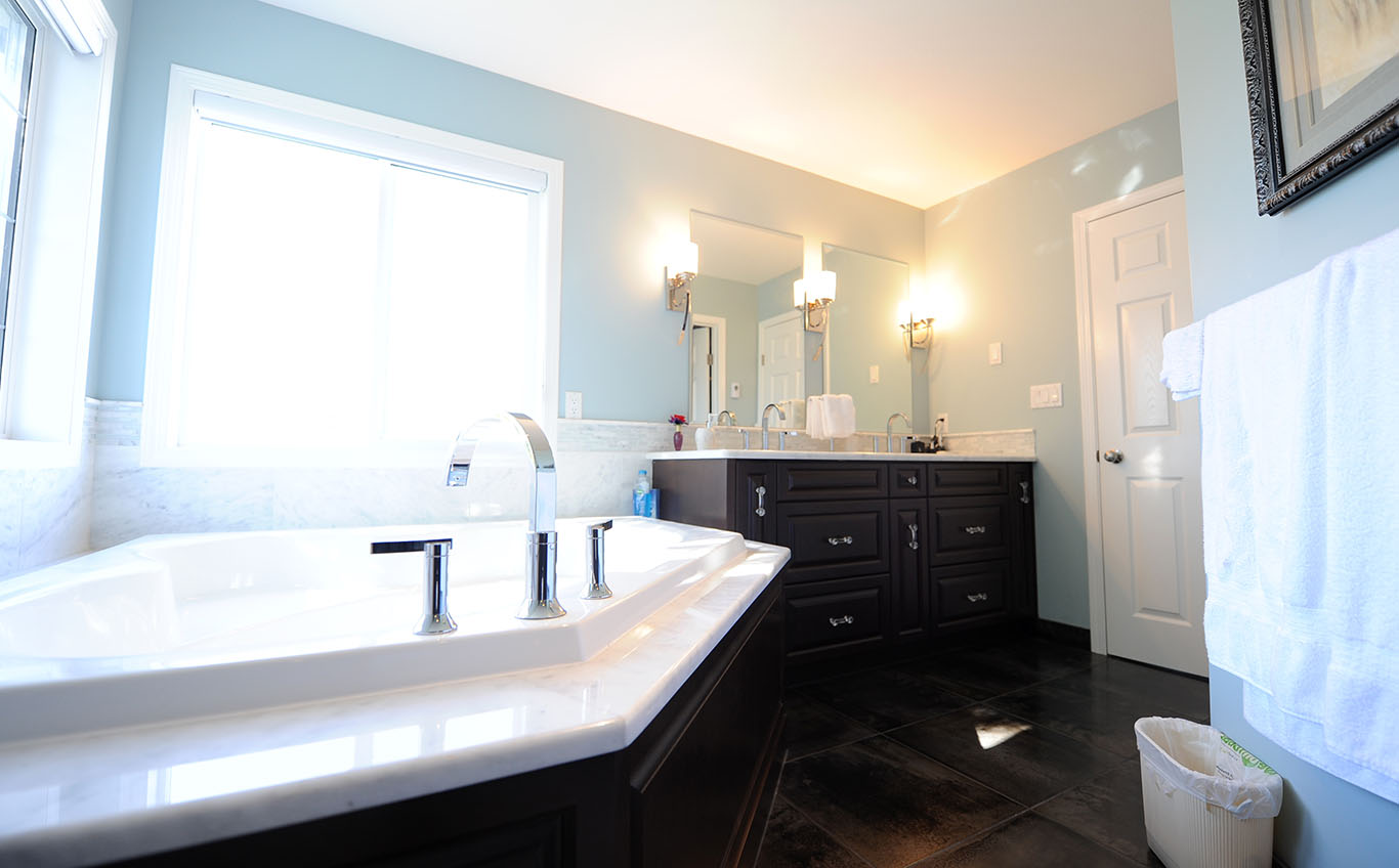 The High-end Bathroom vanity Remodel and Countertops