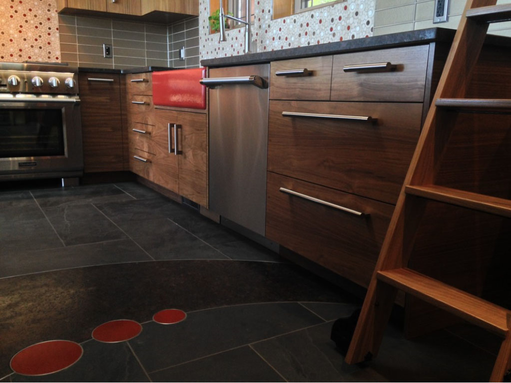 Slab Style Cabinetry