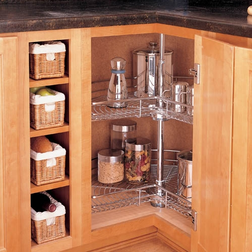 Lazy Susan Corner Cabinet with Kidney Insert