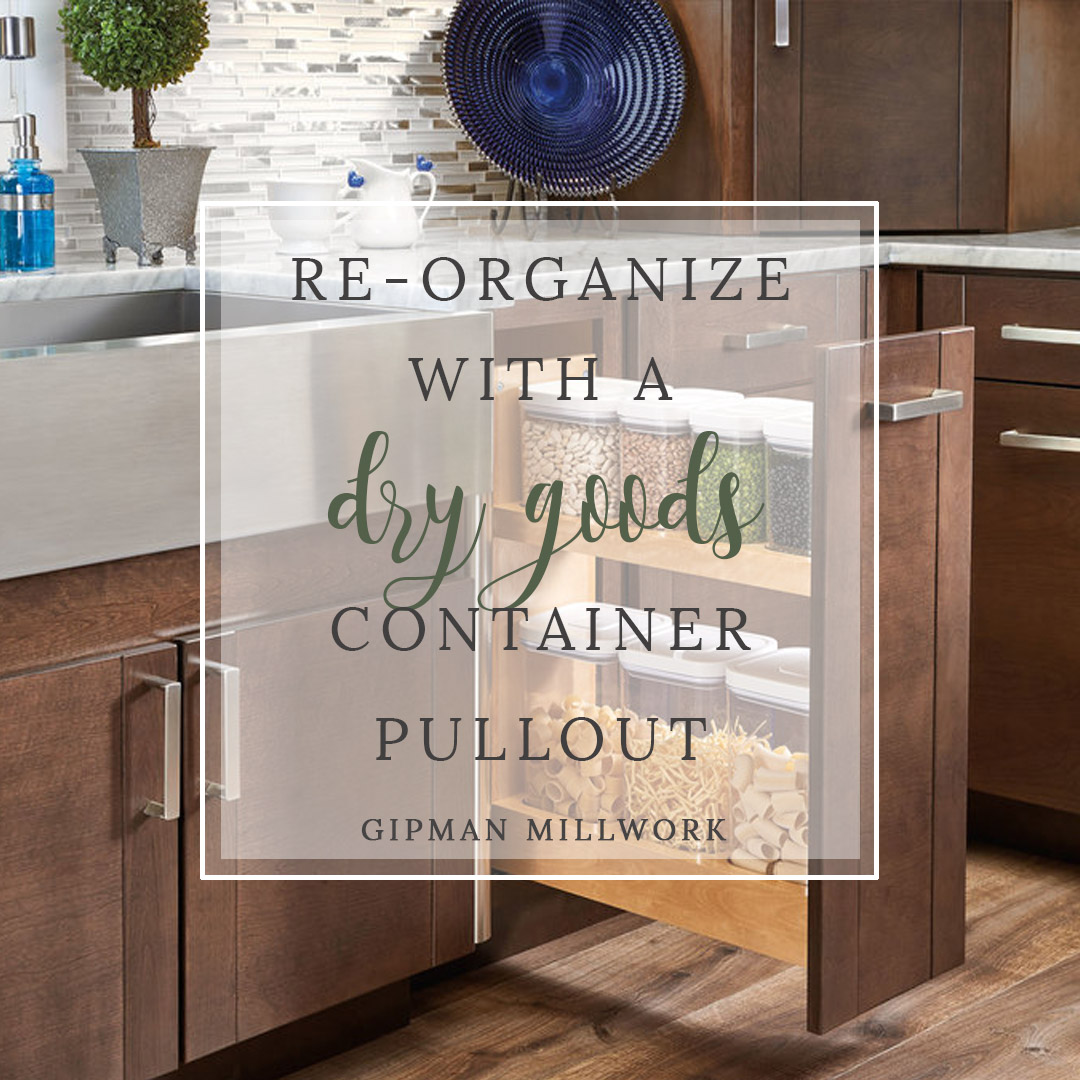 Re-Organize with a Dry Goods Container Pullout