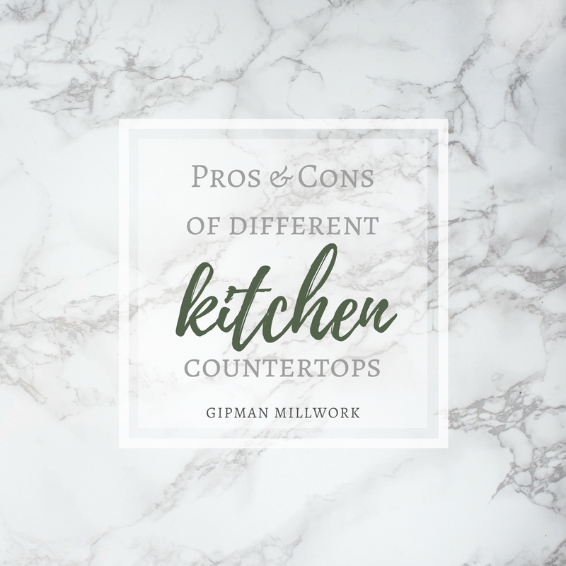 Pros & Cons of different countertops