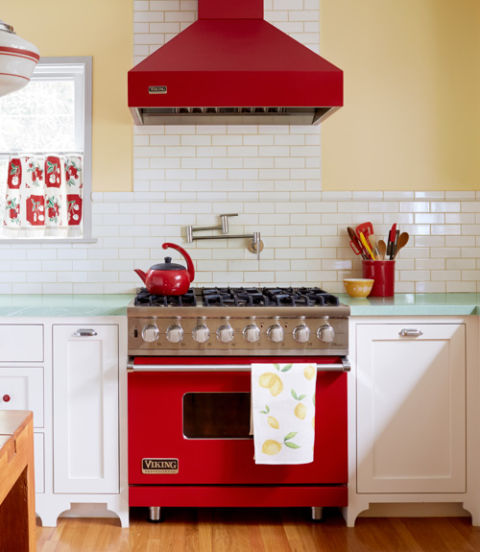 Appliances - Often an underrated way to incorporate a bold color is by getting your appliances in it. This adds a retro feel to the space.