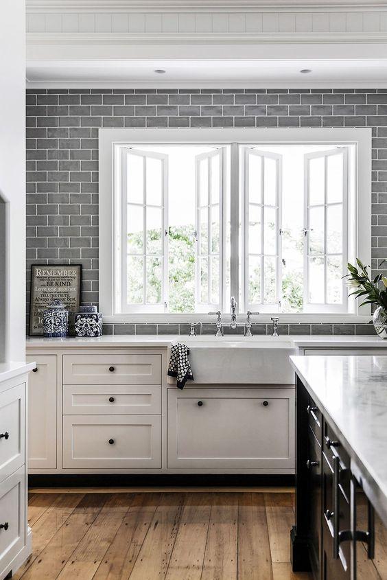 Backsplash - Consider a counter to ceiling backsplash for a dramatic punch!