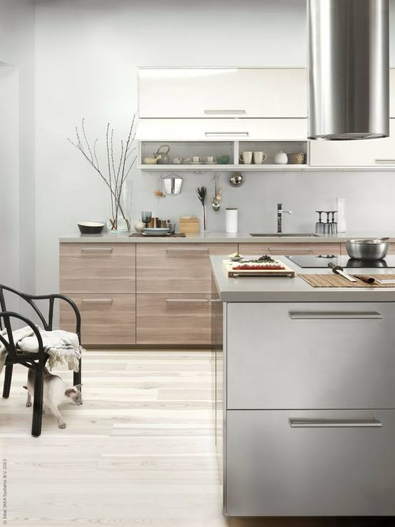 European Inspired - Get inspired by the Europeans and mix and match sleek cabinetry colors and textures for something totally unique!