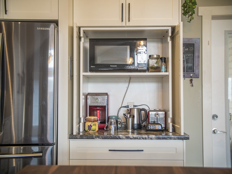 Microwave and Countertop Appliance Cabinet Ideas