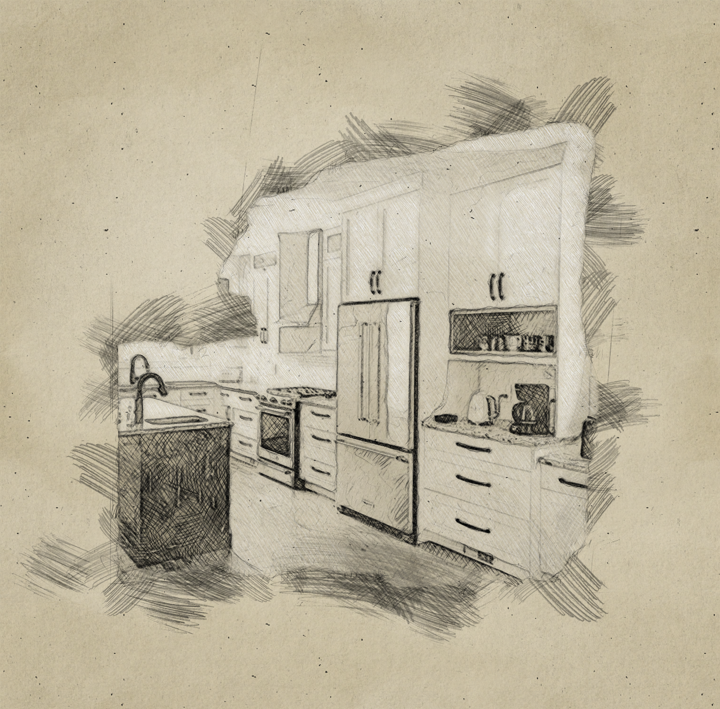 Kitchen Design Sketch