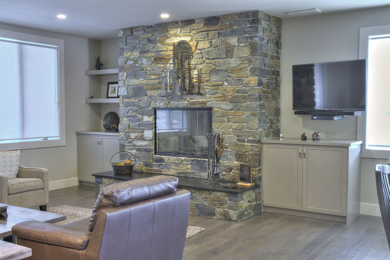 Invermere Fireplace Cabinetry