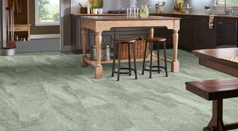 Shaw Ceramic Tile Floor in Pepper