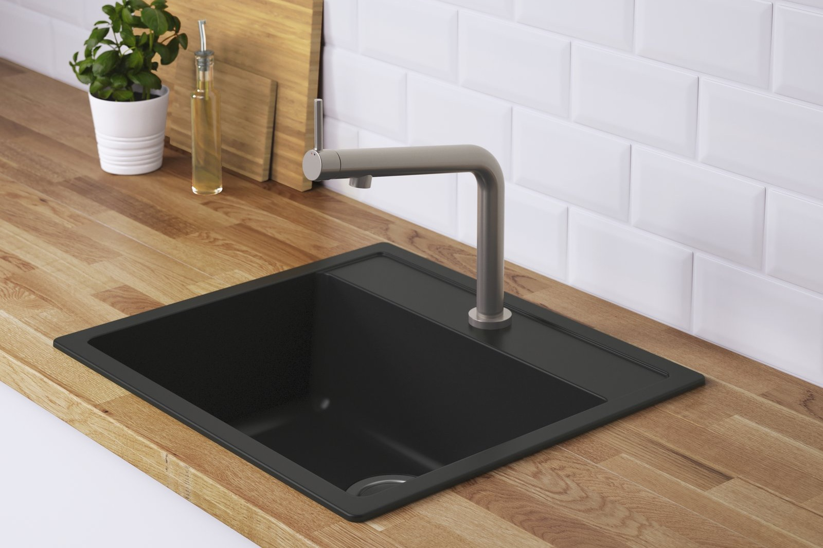 For the least expensive sink options, choose a top mounted sink
