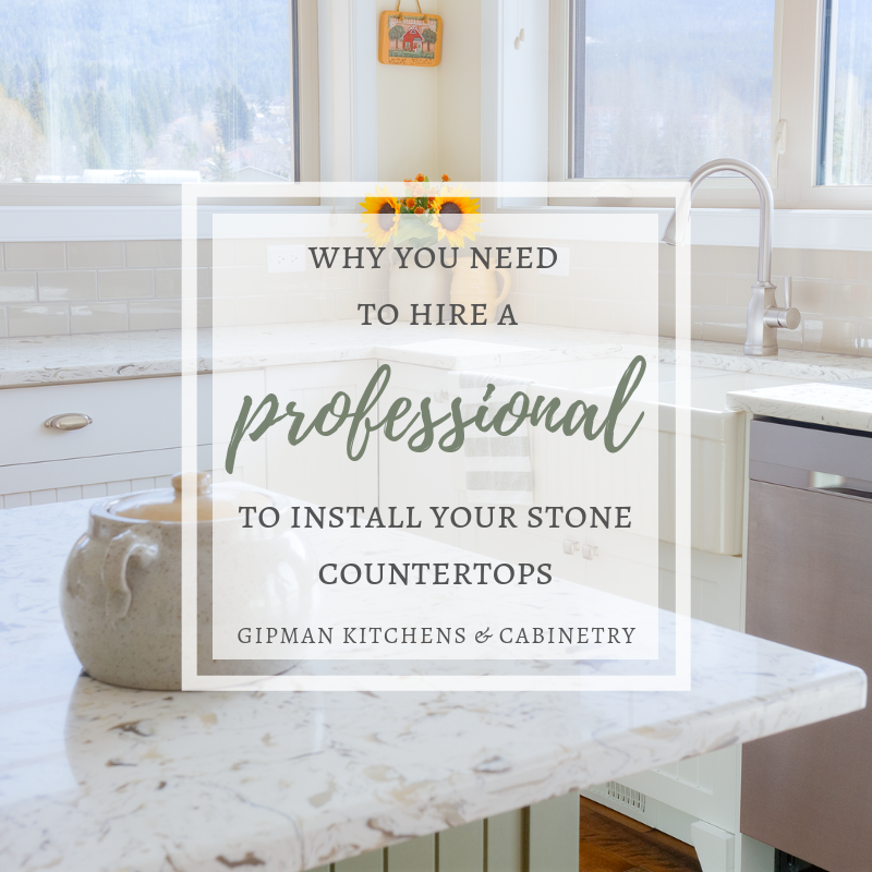 Why you need to hire a professional to install stone countertops