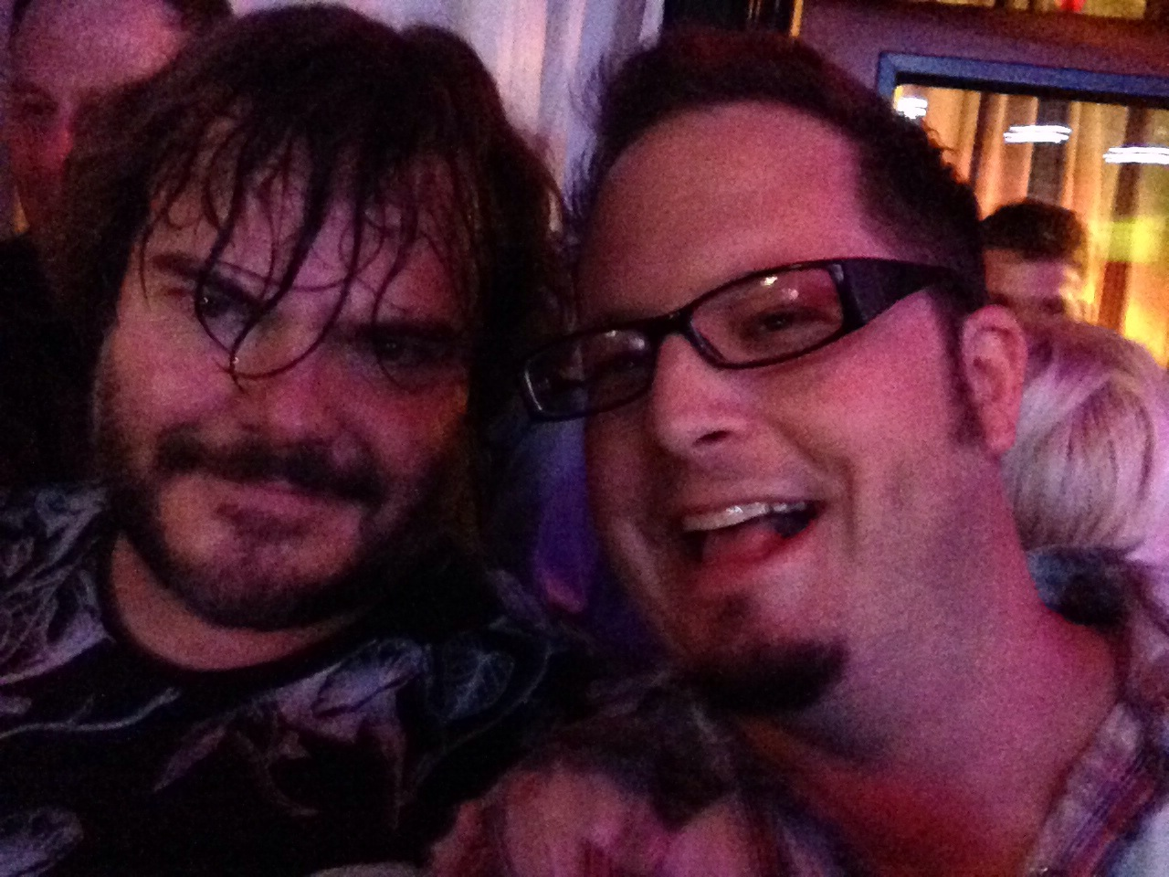 After party with Jack Black.